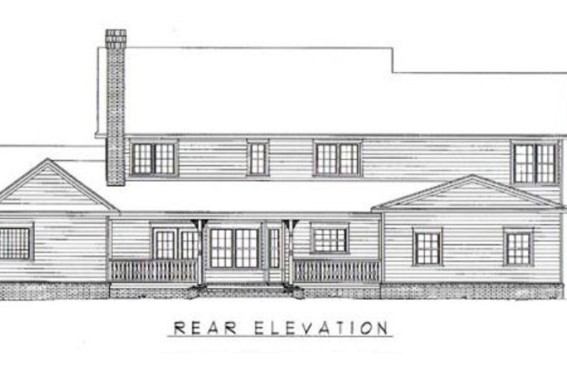 Country Exterior - Rear Elevation Plan #11-226 - Houseplans.com