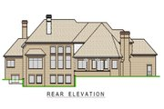 European Style House Plan - 5 Beds 6 Baths 7443 Sq/Ft Plan #458-7 Exterior - Rear Elevation