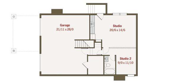 Craftsman Style House Plan - 4 Beds 3 Baths 2680 Sq/Ft Plan #461-36 Floor Plan - Lower Floor Plan