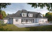 European Style House Plan - 6 Beds 6 Baths 4664 Sq/Ft Plan #3-343 Exterior - Rear Elevation