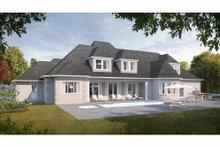 House Plan Design - European Exterior - Rear Elevation Plan #3-343