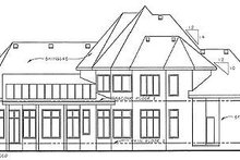 European Exterior - Rear Elevation Plan #20-1706