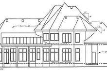 Dream House Plan - European Exterior - Rear Elevation Plan #20-1706