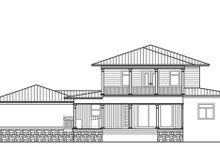 Southern Exterior - Rear Elevation Plan #938-93