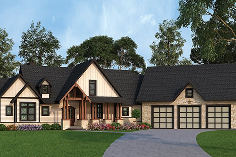 Country Exterior - Front Elevation Plan #119-365