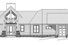 Cabin Exterior - Front Elevation Plan #932-288