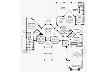 Mediterranean Floor Plan - Main Floor Plan Plan #930-491