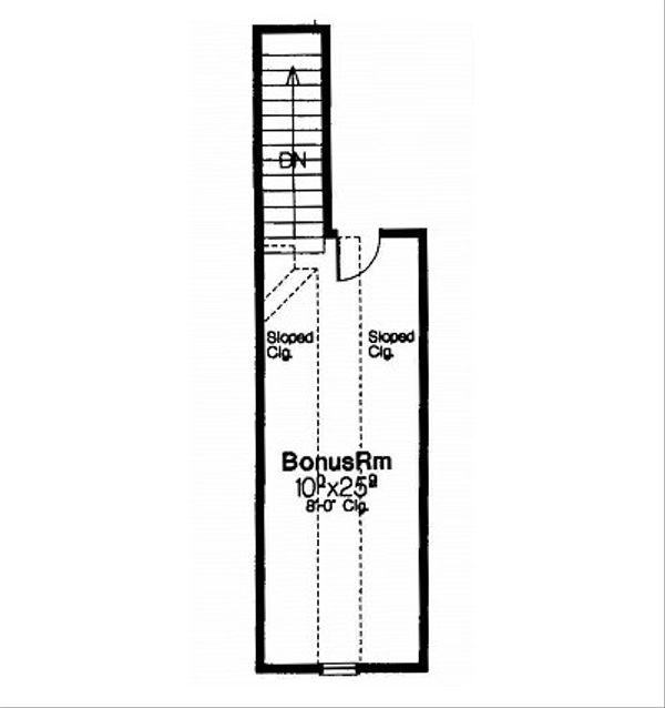 European Floor Plan - Other Floor Plan Plan #310-681
