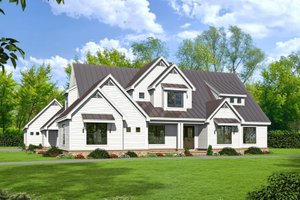 Country Exterior - Front Elevation Plan #932-66