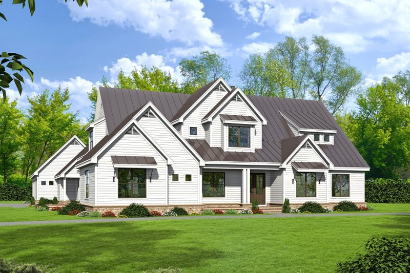 Dream House Plan - Country Exterior - Front Elevation Plan #932-66