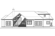 Craftsman Exterior - Rear Elevation Plan #119-416