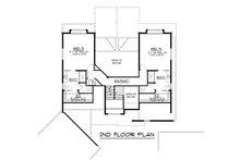 Craftsman Floor Plan - Upper Floor Plan Plan #1064-17