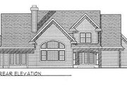 Country Style House Plan - 3 Beds 2.5 Baths 2513 Sq/Ft Plan #70-405 Exterior - Rear Elevation