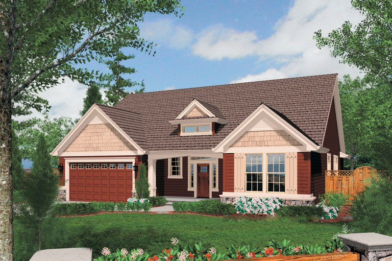 Traditional Style House Plan - 3 Beds 2 Baths 1797 Sq/Ft Plan #48-594 Exterior - Front Elevation