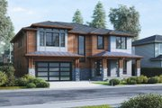Modern Style House Plan - 5 Beds 4.5 Baths 3500 Sq/Ft Plan #1066-13 Exterior - Front Elevation