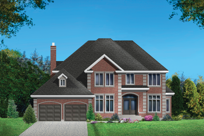 European Style House Plan - 3 Beds 2 Baths 3159 Sq/Ft Plan #25-4855 Exterior - Front Elevation