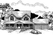 Country Style House Plan - 3 Beds 2.5 Baths 2588 Sq/Ft Plan #50-218 Exterior - Front Elevation