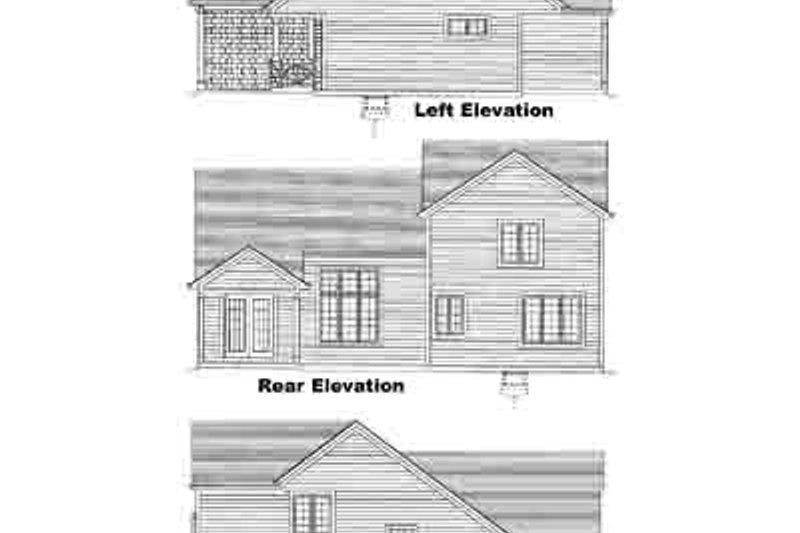 Craftsman Exterior - Rear Elevation Plan #46-381 - Houseplans.com