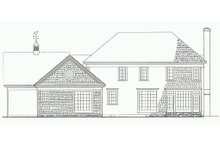Home Plan - Country Exterior - Rear Elevation Plan #137-210