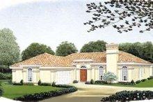 Home Plan - Mediterranean Exterior - Front Elevation Plan #410-125