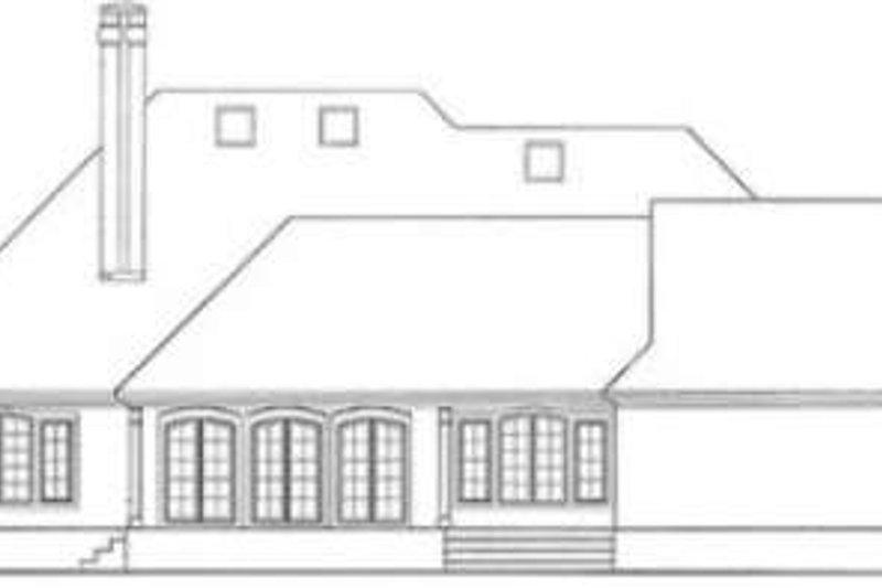 European Exterior - Rear Elevation Plan #406-114 - Houseplans.com