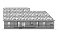 House Plan Design - Colonial Exterior - Rear Elevation Plan #430-23
