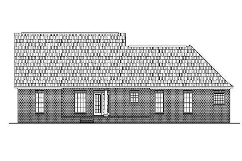 Colonial Exterior - Rear Elevation Plan #430-23 - Houseplans.com