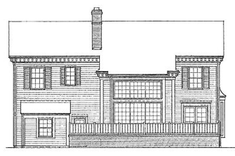 Southern Exterior - Other Elevation Plan #72-148 - Houseplans.com