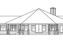 Dream House Plan - Craftsman Exterior - Rear Elevation Plan #124-731
