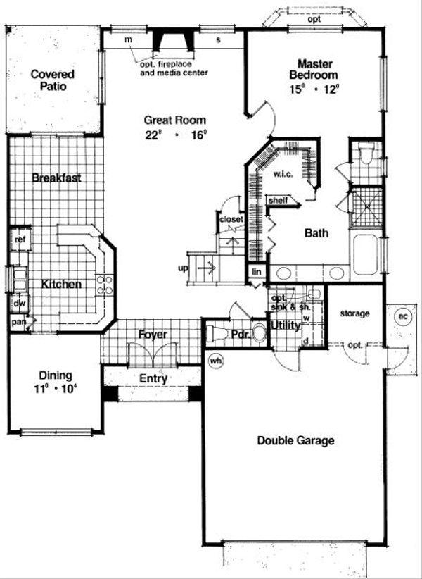 Modern Floor Plan - Main Floor Plan #417-212