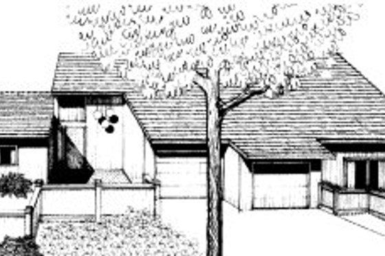 Modern Exterior - Front Elevation Plan #303-130