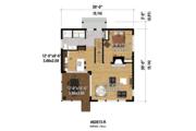 Contemporary Style House Plan - 3 Beds 1 Baths 1296 Sq/Ft Plan #25-4599 Floor Plan - Main Floor