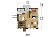 Contemporary Style House Plan - 3 Beds 1 Baths 1296 Sq/Ft Plan #25-4599 Floor Plan - Main Floor Plan