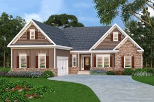 Architectural House Design - Traditional Exterior - Front Elevation Plan #419-146