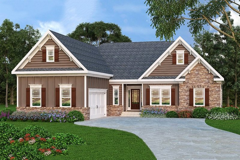 Traditional Exterior - Front Elevation Plan #419-146 - Houseplans.com