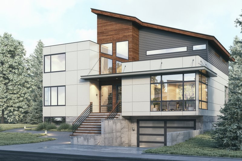 Home Plan - Contemporary Exterior - Front Elevation Plan #1066-32