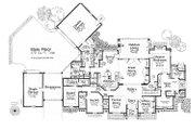 European Style House Plan - 3 Beds 3.5 Baths 4712 Sq/Ft Plan #310-700 Floor Plan - Main Floor