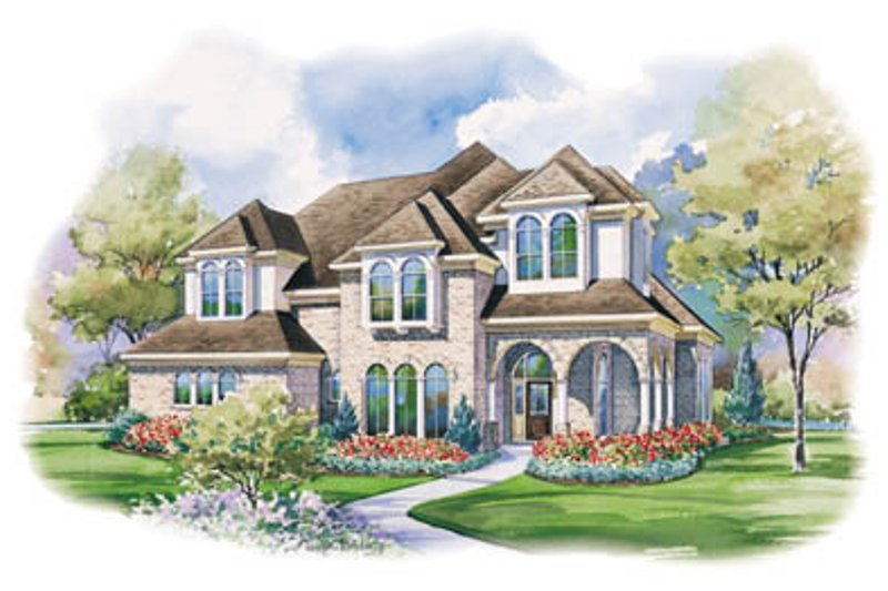 European Exterior - Front Elevation Plan #20-1150
