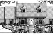 Traditional Style House Plan - 4 Beds 2.5 Baths 2790 Sq/Ft Plan #62-119 Exterior - Front Elevation