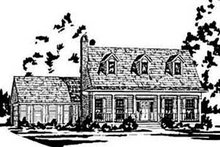 Home Plan - Country Exterior - Front Elevation Plan #36-199