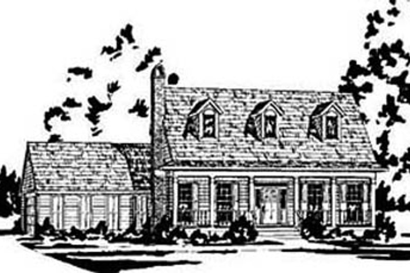 Country Exterior - Front Elevation Plan #36-199