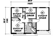 Contemporary Style House Plan - 3 Beds 1 Baths 1461 Sq/Ft Plan #25-4289 Floor Plan - Upper Floor Plan