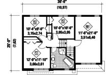 Contemporary Floor Plan - Upper Floor Plan Plan #25-4289