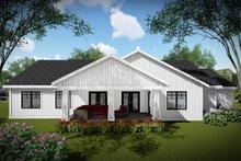 Craftsman Exterior - Rear Elevation Plan #70-1479