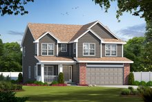Traditional Exterior - Front Elevation Plan #20-1769
