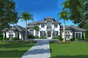 Colonial Style House Plan - 4 Beds 4.5 Baths 10297 Sq/Ft Plan #27-540 Exterior - Front Elevation