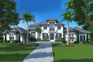 Colonial Exterior - Front Elevation Plan #27-540