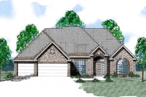European Exterior - Front Elevation Plan #52-137
