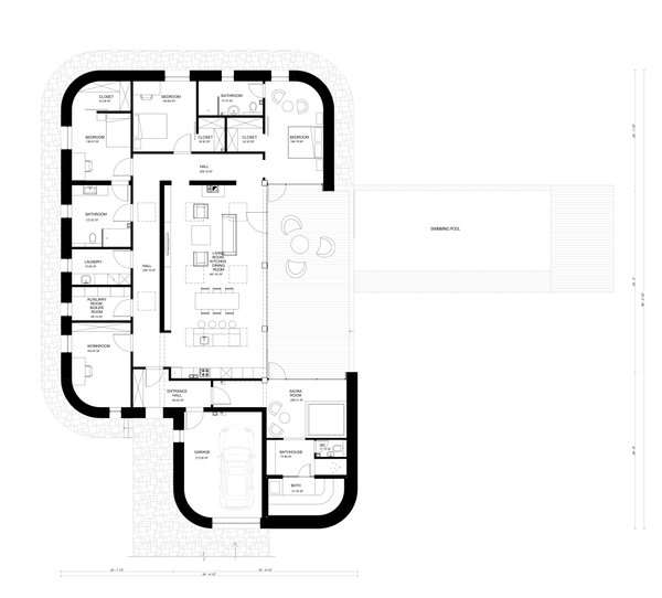 Contemporary Floor Plan - Main Floor Plan Plan #906-20