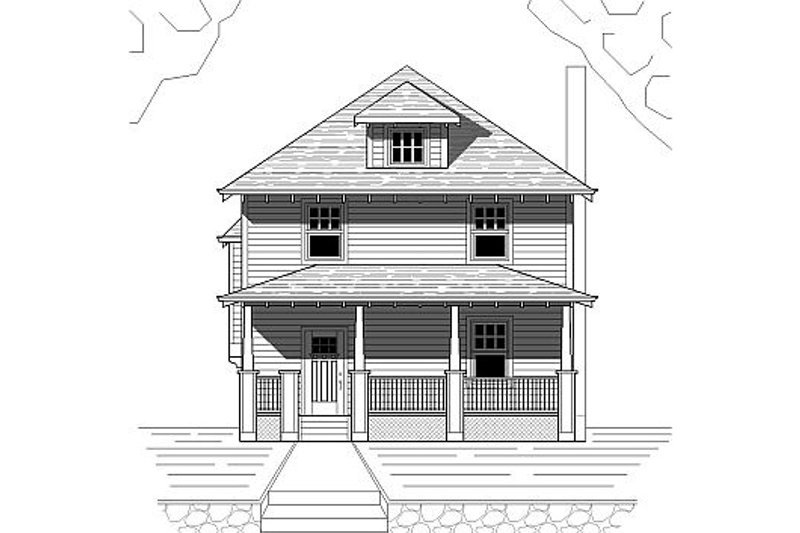Craftsman Style House Plan - 3 Beds 2.5 Baths 1500 Sq/Ft Plan #423-40 Exterior - Front Elevation